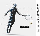 tennis player  vector eps10... | Shutterstock .eps vector #377767579