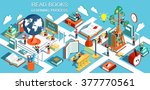 the concept of learning  read... | Shutterstock .eps vector #377770561