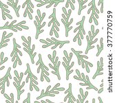 leaf seamless pattern. cute... | Shutterstock . vector #377770759