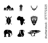 african icon set vector | Shutterstock .eps vector #377772325