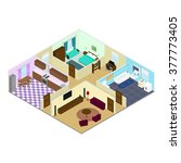 infographic. the interior of... | Shutterstock .eps vector #377773405