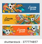 doodle colorful banners with... | Shutterstock .eps vector #377774857