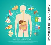 digestive system diseases with... | Shutterstock .eps vector #377775049