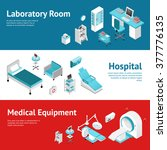 hospital medical laboratory... | Shutterstock .eps vector #377776135