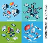 telemedicine design concept set ... | Shutterstock .eps vector #377776261