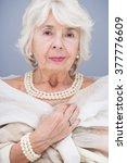 Elegant  Senior Woman With...