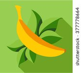 banana icon flat. modern... | Shutterstock .eps vector #377778664