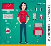 man programmer  software...   Shutterstock .eps vector #377780359