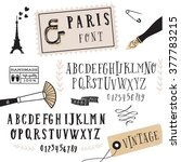 clean hand drawn font face that ... | Shutterstock .eps vector #377783215