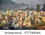 colorful cemetery in...   Shutterstock . vector #377784064