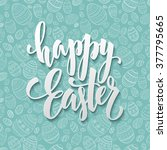 Happy Easter Egg Lettering On...