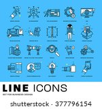 thin line icons set. business... | Shutterstock .eps vector #377796154