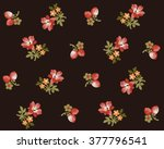 floral retro background... | Shutterstock .eps vector #377796541