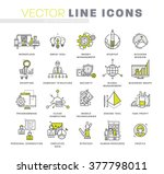 thin line icons set. business... | Shutterstock .eps vector #377798011