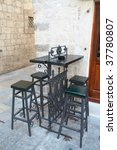 Iron Set Of Chairs And Table