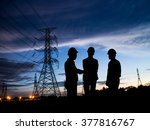 silhouette man of engineers... | Shutterstock . vector #377816767