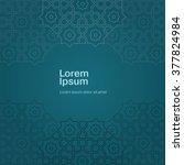 arabic ornament design vector...   Shutterstock .eps vector #377824984