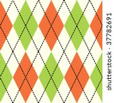 orange and green argyle...   Shutterstock .eps vector #37782691