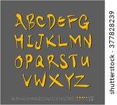 alphabet   number   handwriting ... | Shutterstock .eps vector #377828239