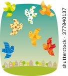 birds | Shutterstock .eps vector #377840137