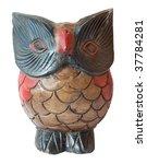 Owl Ornament Wooden Sculpture...