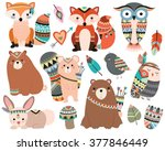 Woodland Tribal Animals Cute...