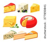 Cheese Types. Modern Flat Styl...