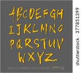 alphabet   number   handwriting ... | Shutterstock .eps vector #377851399