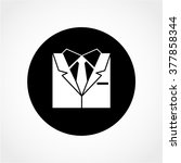 business suit icon isolated on... | Shutterstock .eps vector #377858344