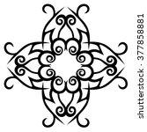 tribal tattoo design  vector... | Shutterstock .eps vector #377858881