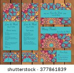 wedding card collection   save... | Shutterstock .eps vector #377861839
