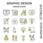 vector graphic designer colored ...   Shutterstock .eps vector #377862145