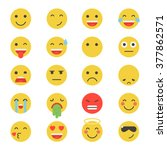 emoticon vector illustration.... | Shutterstock .eps vector #377862571