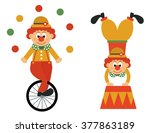clown on a bike and funny clown