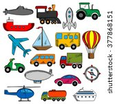 transportation icons set with... | Shutterstock .eps vector #377868151