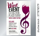 design for wine event. suitable ... | Shutterstock .eps vector #377878579