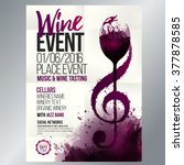 design for wine event. suitable ... | Shutterstock .eps vector #377878585