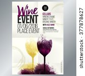 design for wine event. suitable ... | Shutterstock .eps vector #377878627