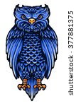 vector illustration of owl  | Shutterstock .eps vector #377881375