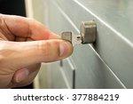 closeup of hand man is opening... | Shutterstock . vector #377884219
