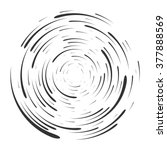 abstract vortex. circular drop... | Shutterstock .eps vector #377888569