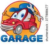 car garage symbol cartoon on... | Shutterstock .eps vector #377888677