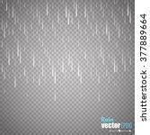 vector rain isolated on...   Shutterstock .eps vector #377889664