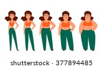 cartoon funny characters... | Shutterstock .eps vector #377894485