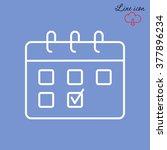 line icon  calendar | Shutterstock .eps vector #377896234