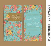wedding invitation card or... | Shutterstock .eps vector #377896279