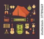 vector set of equipment for... | Shutterstock .eps vector #377896669