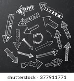 hand drawn arrow icons set on... | Shutterstock .eps vector #377911771