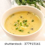 baked potato soup   soup bowl | Shutterstock . vector #377915161