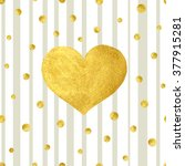 heart love gold watercolor... | Shutterstock .eps vector #377915281